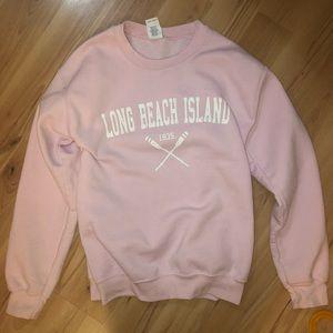 Pink Long Beach Island Crewneck